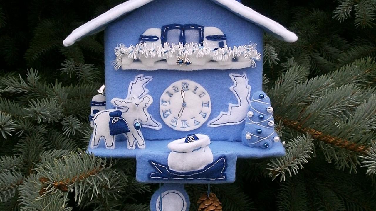 Новогодние часы своими руками для детского сада: фото пошагово