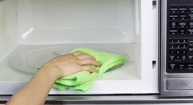 почистить микроволновку