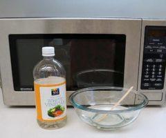 Чистим микроволновку с помощью уксуса: эффективные методы очистки