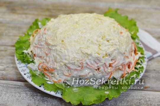слой сыра с майонезом