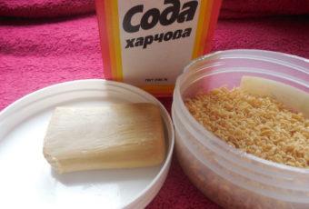 Порошок из хозяйственного мыла и соды: способы как сделать, особенности использования