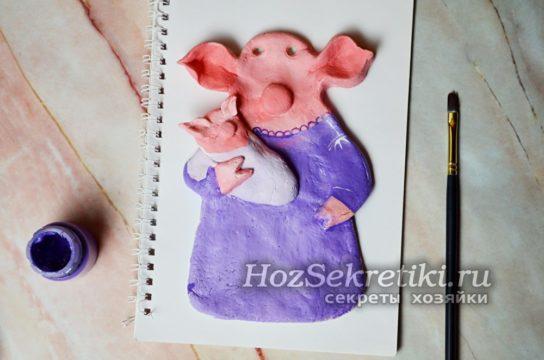 раскрасить свинку