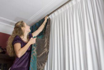 Как правильно повесить шторы и занавески в комнате