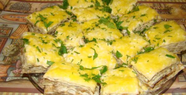 Закусочный торт из лаваша
