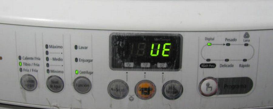 Ошибка ue на стиральной машине samsung: ремонт своими руками