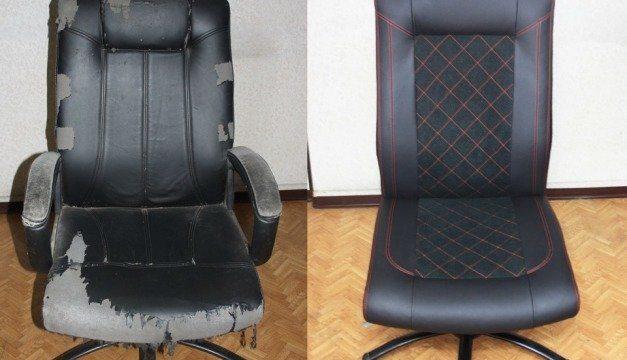 Как перетянуть кресло своими руками: пошаговая инструкция