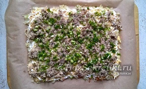 слой зеленого лука