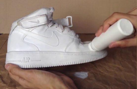 как отбелить кроссовки
