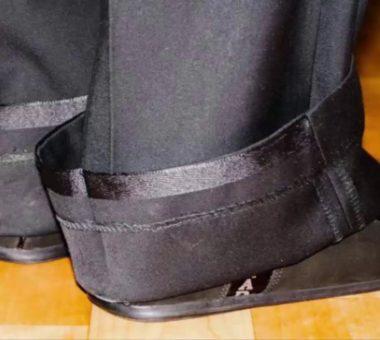 Как подшить брюки с помощью ленты
