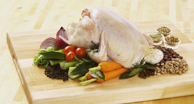 разморозка курицы
