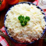 салат Невеста с курицей и плавленным сыром