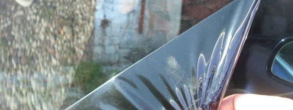 Как и чем снять остатки тонировки со стекла