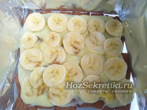 выложить слой бананов