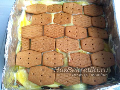 верхний слой из печенья