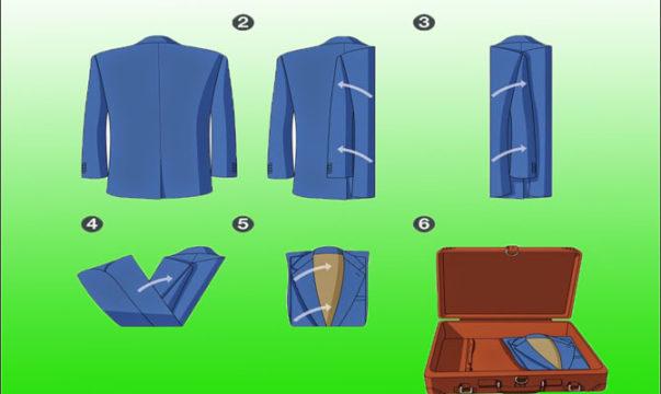 сложить пиджак без выворачивания