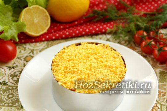 слой яичных желтков