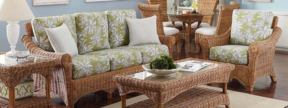 Стильная плетеная мебель из ротанга в интерьере