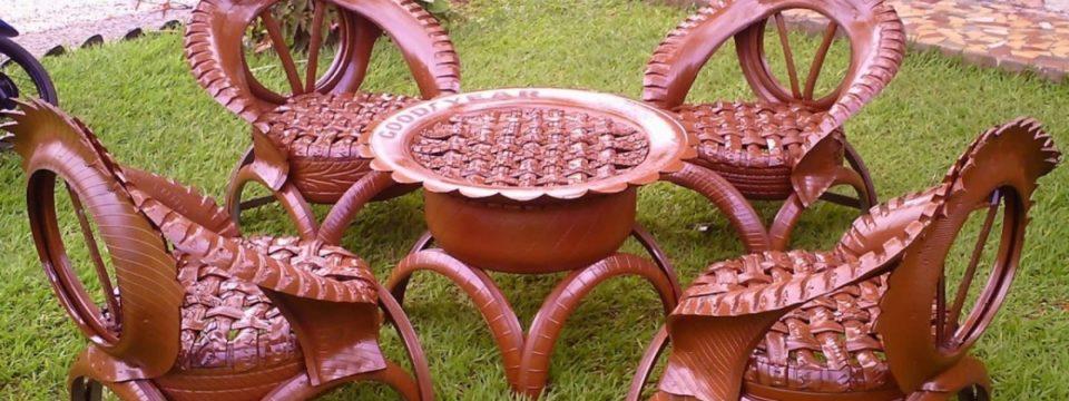6 поделок из шин для сада и дачи