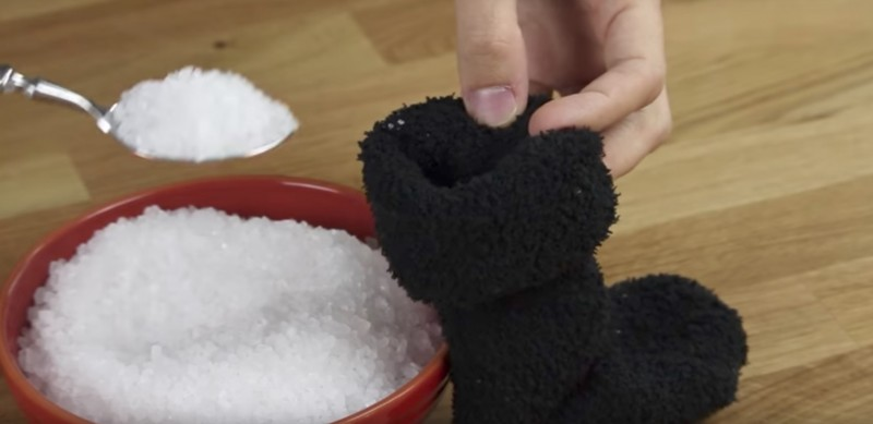 хранение соли в колготках