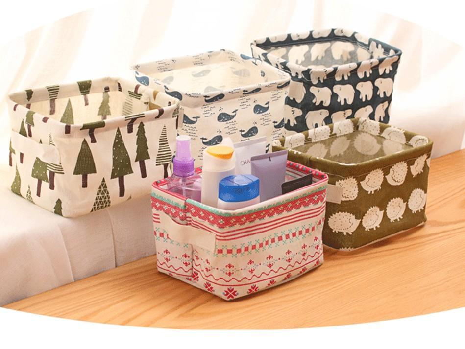 Компактные коробки из ткани