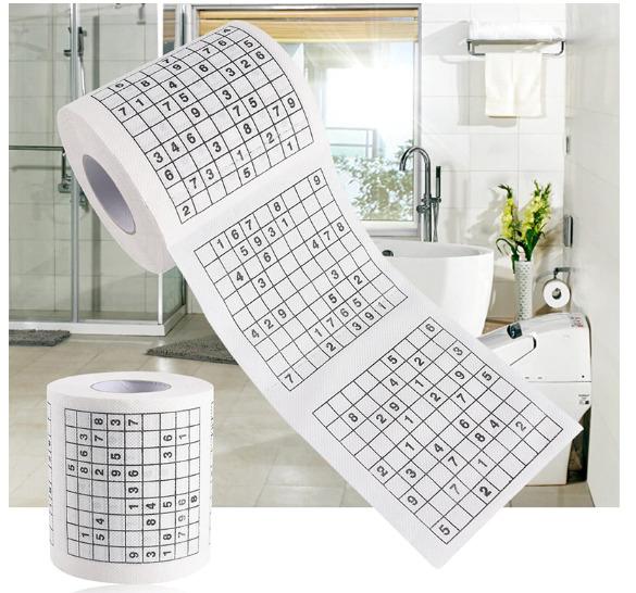 Туалетная бумага в виде листов лотереи