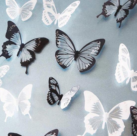 наклейки в виде бабочек
