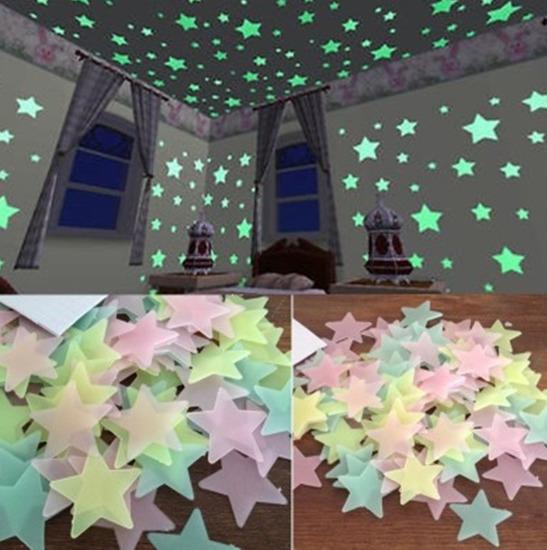 Светящиеся 3D звезды