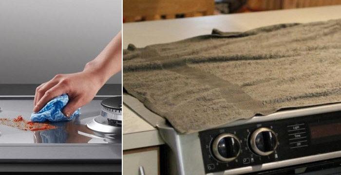 Зачем накрывать плиту влажными полотенцами