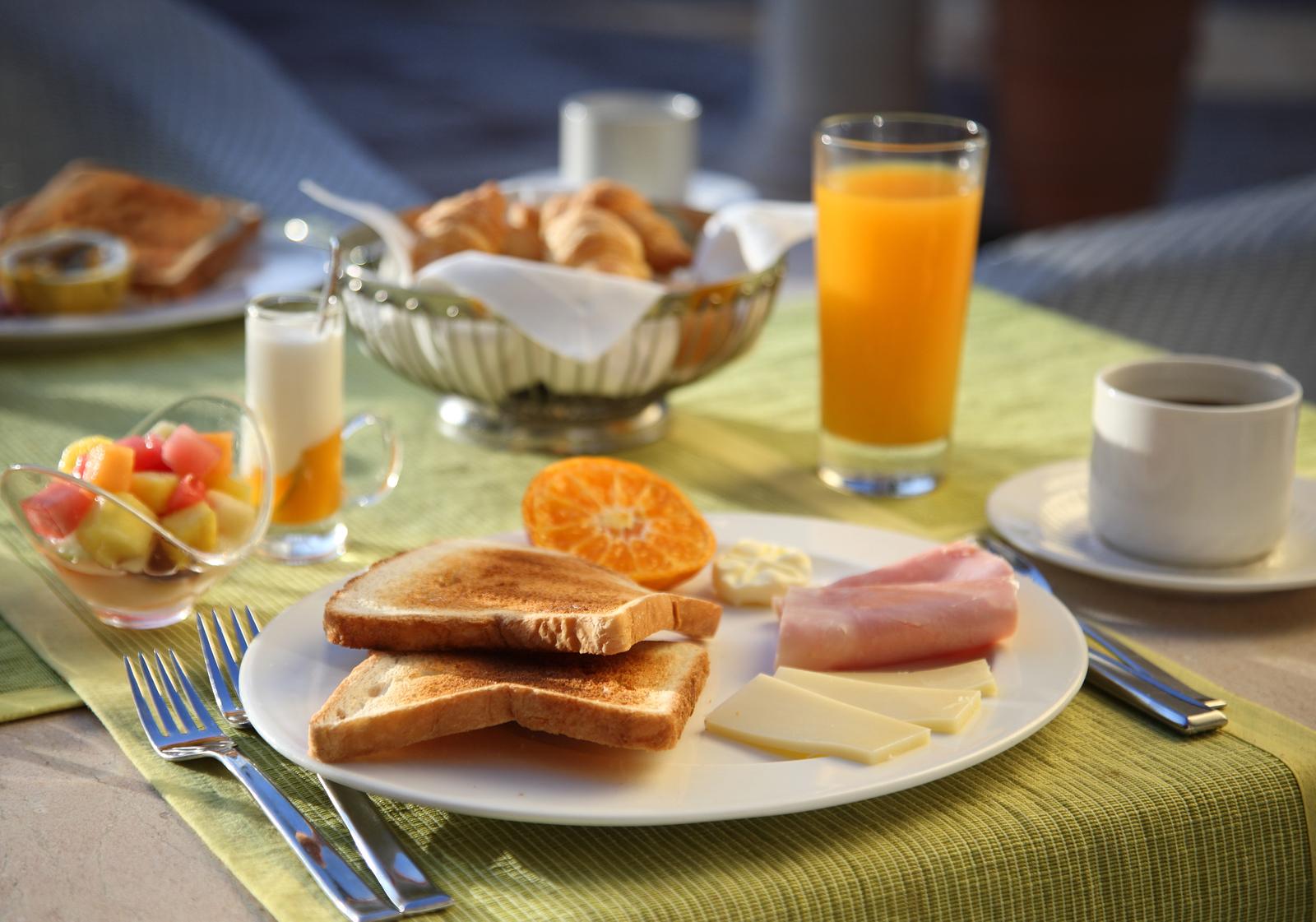 Завтрак в течение получаса