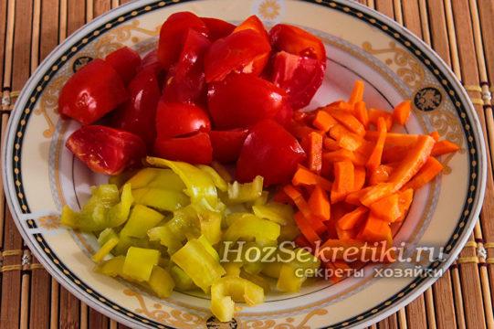 помидоры, перец, морковь