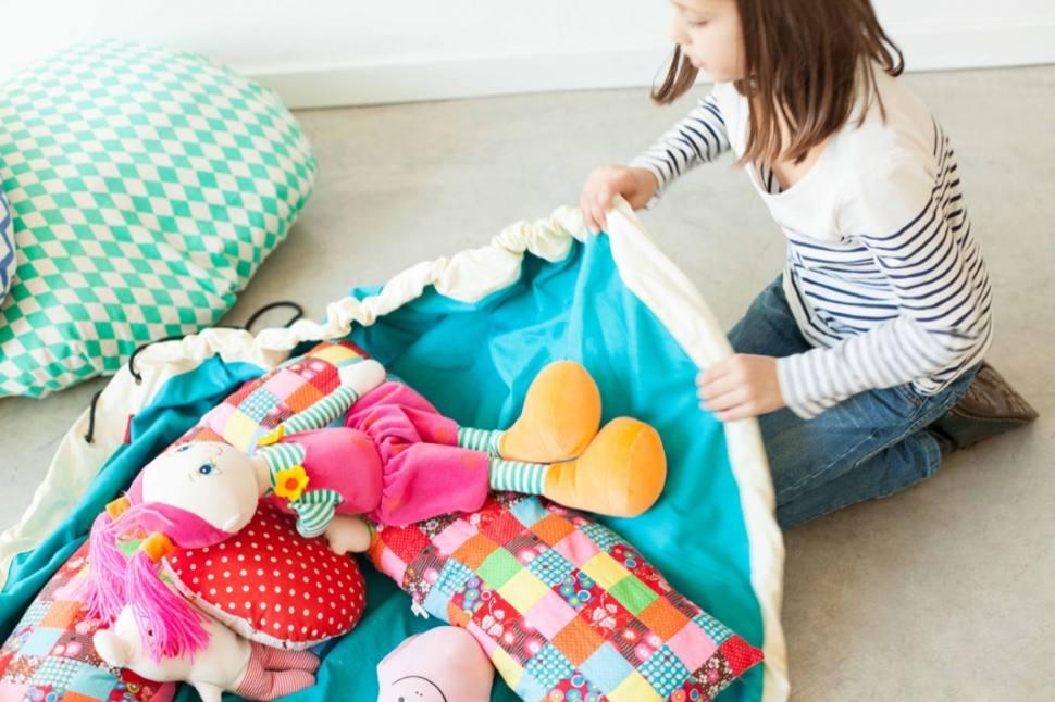 Мешок-коврик для игр и хранения игрушек