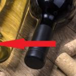 дно винной бутылки