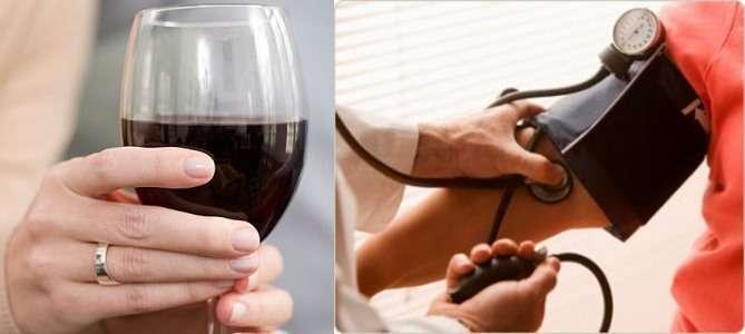 Спиртное помогает снять высокое давление