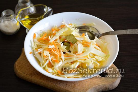 капусту залить маринадом