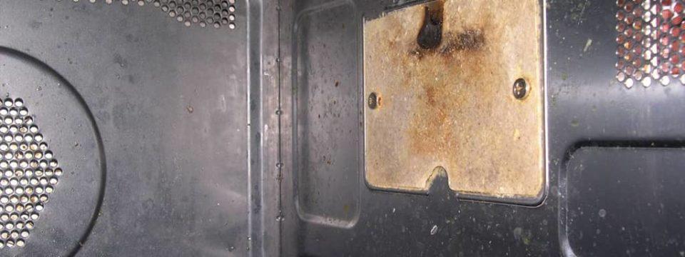 В микроволновке прогорела слюдяная пластина