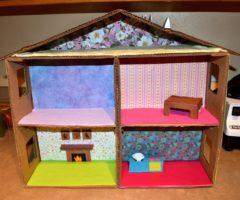 Самые интересные домики для кукол своими руками из картона и дерева