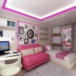 Дизайн и планировка комнаты для девочки подростка 14-17 лет