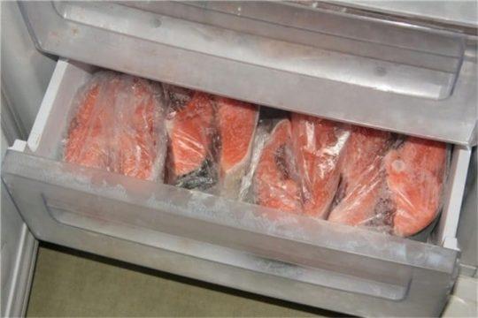 хранение семги в морозилке