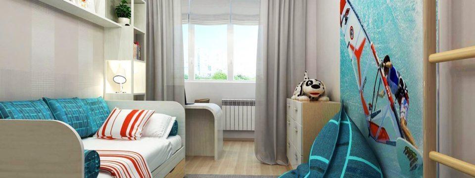 Дизайн узкой комнаты для детей: полезные идеи