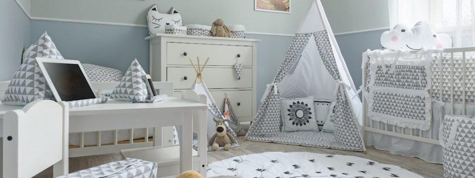 Особенности дизайна детской комнаты в серых оттенках