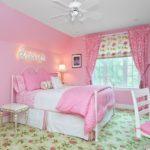 интерьер детской комнаты для девочки в розовых оттенках