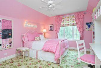 Как создать интерьер детской комнаты для девочки в розовых оттенках