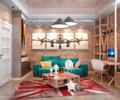 Как создать интерьер детской комнаты в стиле лофт