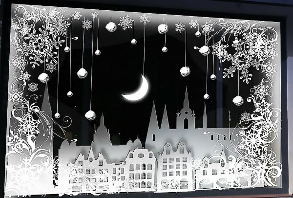Трафареты и шаблоны на окно на Новый год 2021