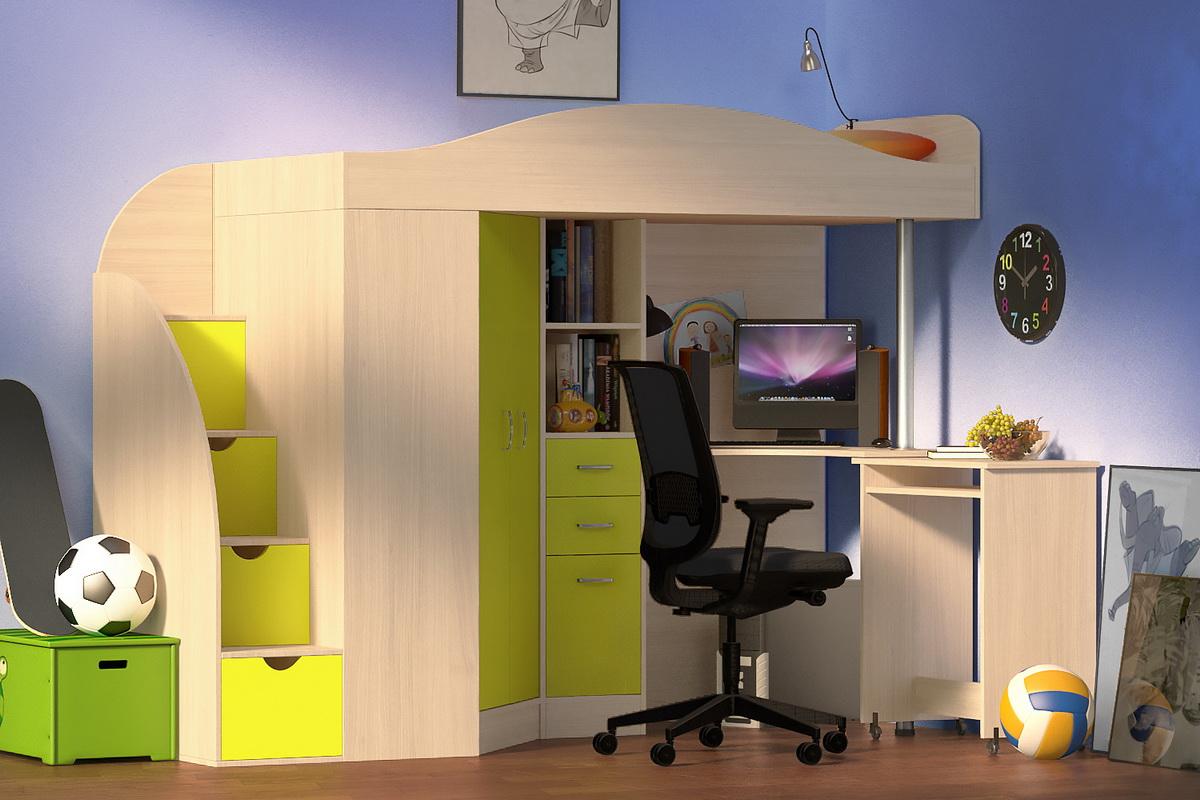 Кровать-чердак: преимущества конструкции, ее разновидности, особенности организации спального места ребенка