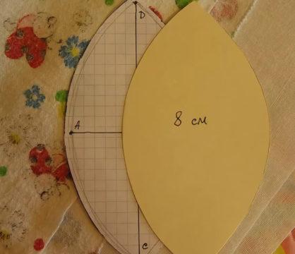 выкроить две половинки шара