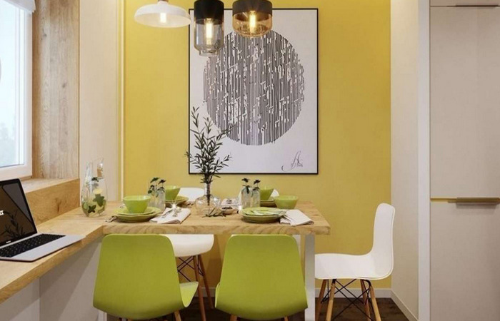 декорирование обеденной зоны на кухне