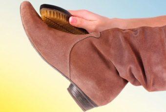 Как почистить сапоги из замши от грязи и соли