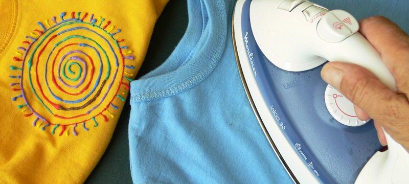 Как погладить футболку из разных типов ткани