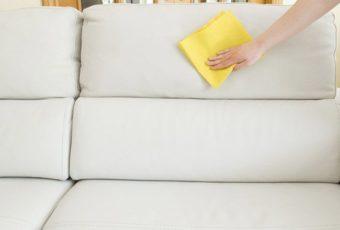 Как почистить диван из натуральной кожи